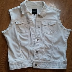 The Limited cut off white Jean jacket